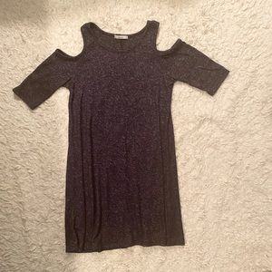 Acemi Navy Cold Shoulder Mini Dress Size Small